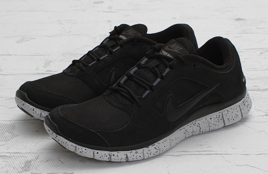 nike free run 3 black on black