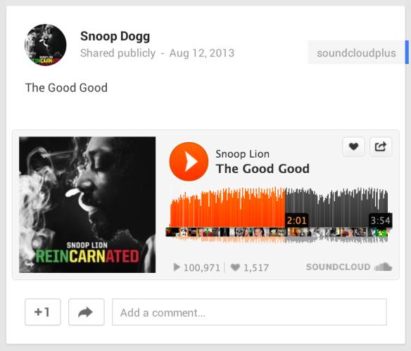 Snoop-Lion-Google+-SoundCloud